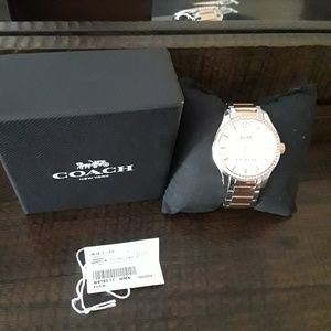 Men style Coach watch for women 2 tone